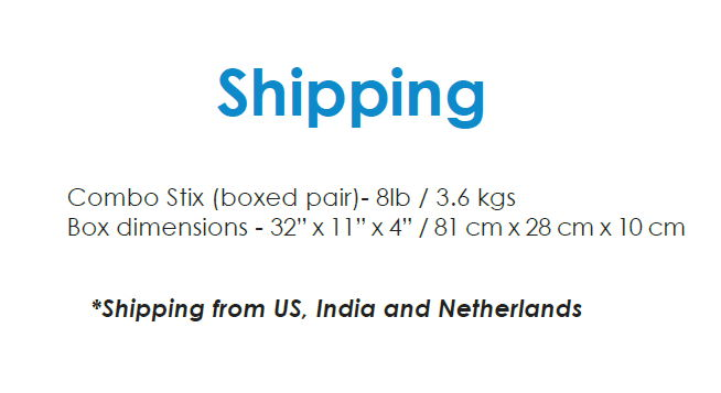 Mobility+Designed ComboStix - Shipping Information